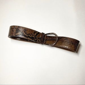 Miu Miu Snakeskin Buckle Belt